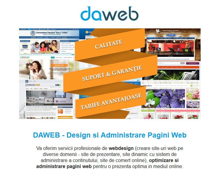 Daweb - realizare si administrare site-uri